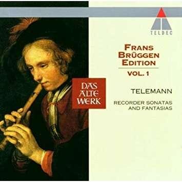 TELEMANN Frans Brüggen Edition. Vol.1. Recorder Sonatas And Fantasias