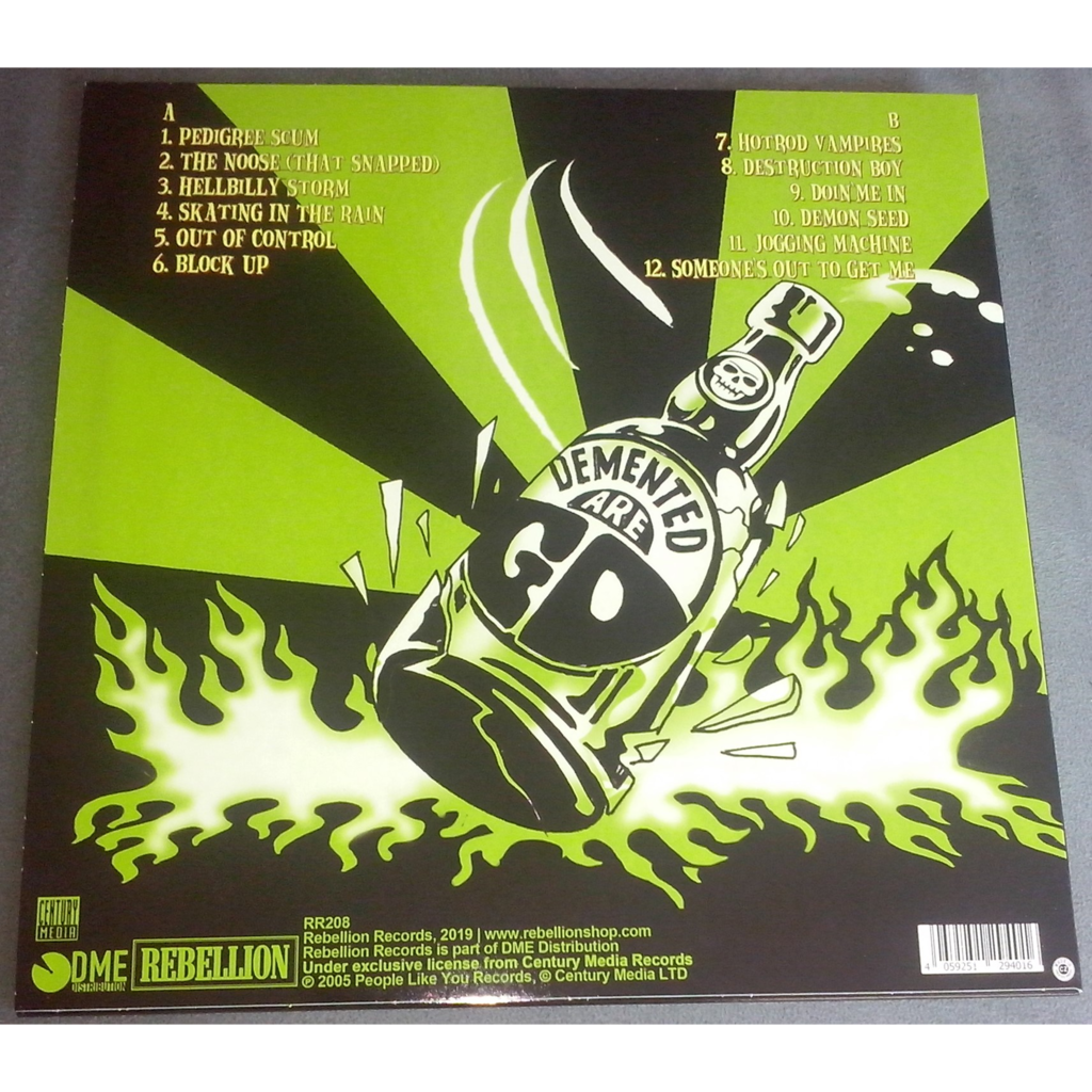 Demented Are Go hellbilly storm (lp) ltd edit colored vinyl & 500 copies -e.u