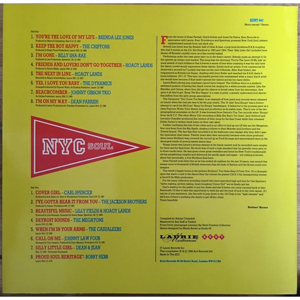 various - New York City Soul New York City Soul - KENT 043