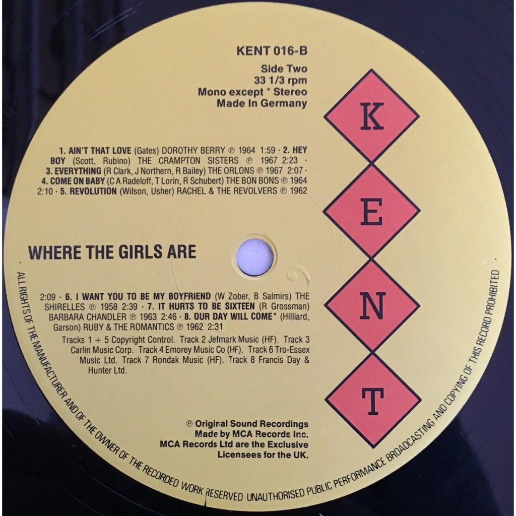 various - Where The Girls Are! Where The Girls Are! - KENT 016