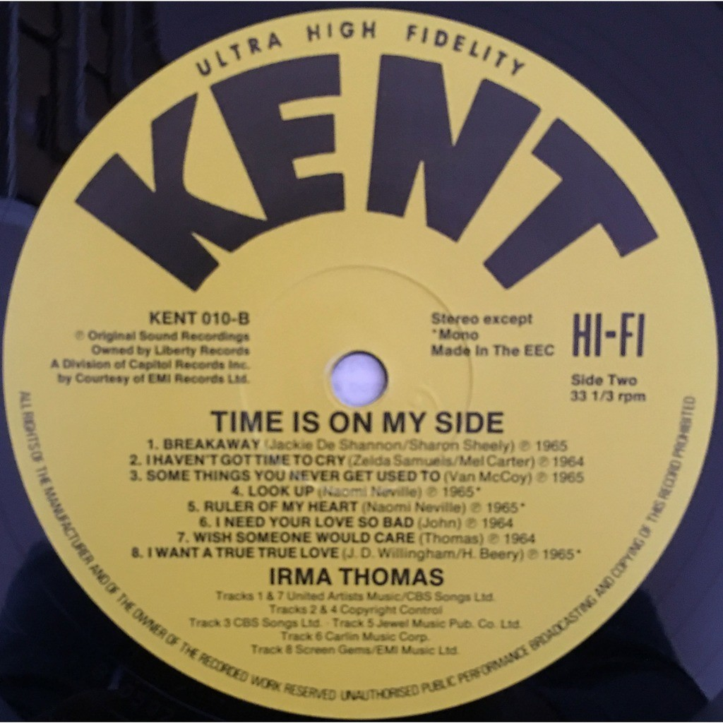 Irma Thomas Time Is On My Side - KENT 010