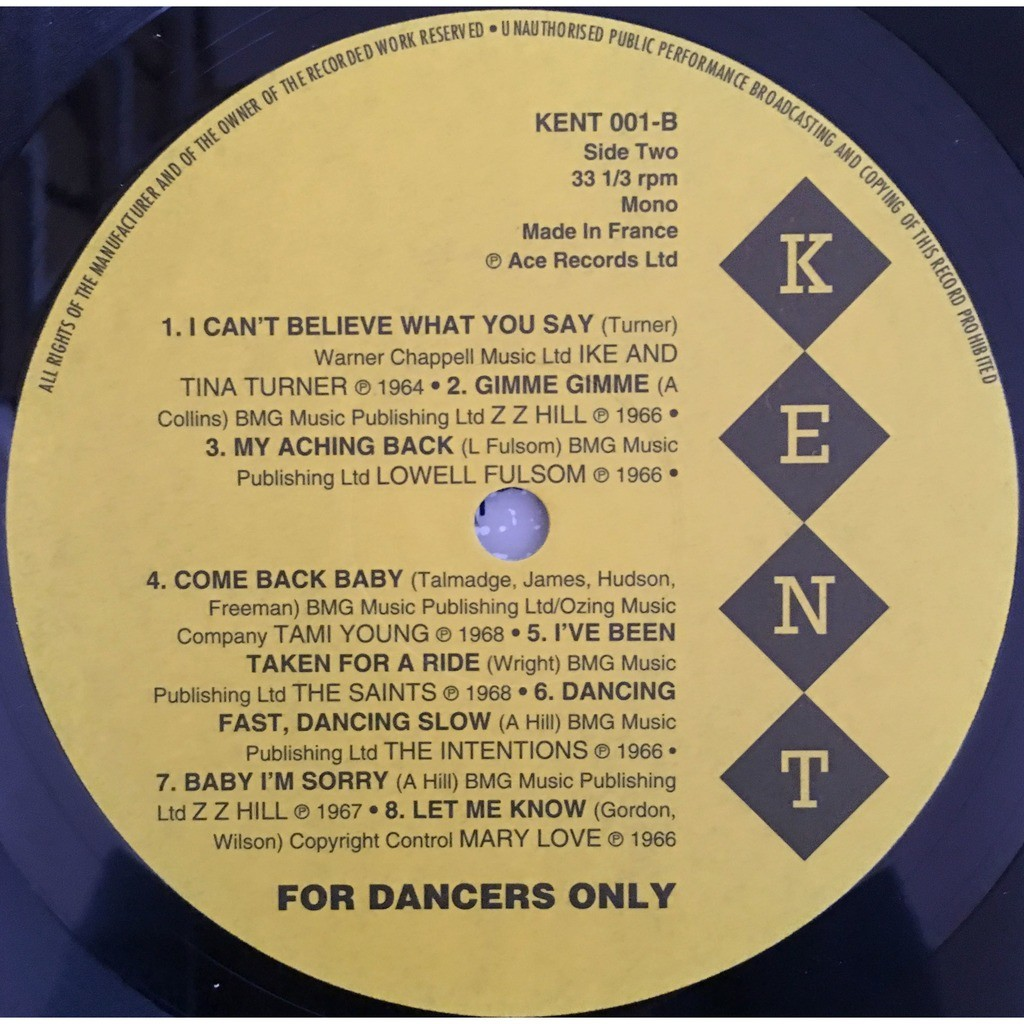 various - For Dancers Only For Dancers Only - KENT 001