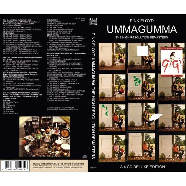 pink floyd 4CD Ummagumma The High Resolution Remasters