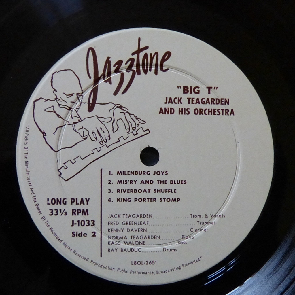 JACK TEAGARDEN AND HIS ORCHESTRA BIG T