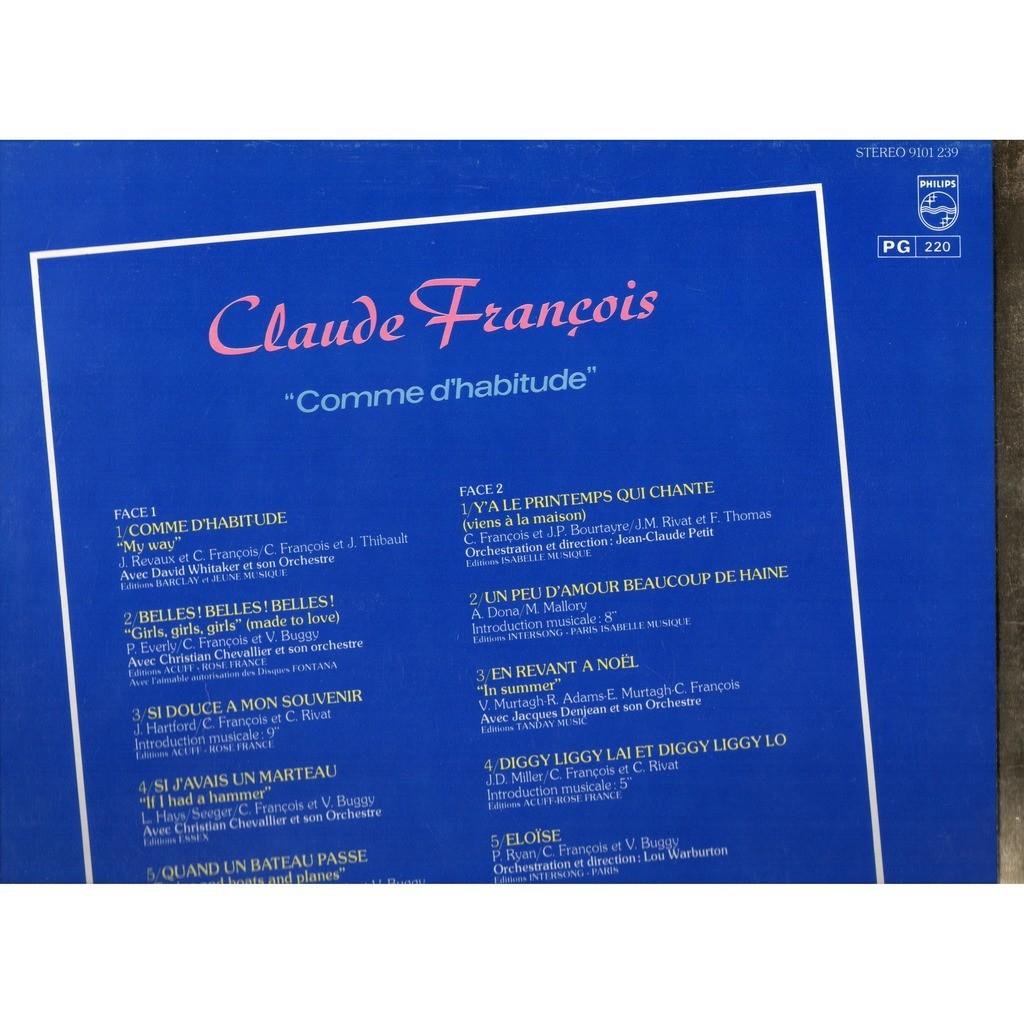 CLAUDE FRANCOIS ALBUM OR .. COMME D'HABITUDE