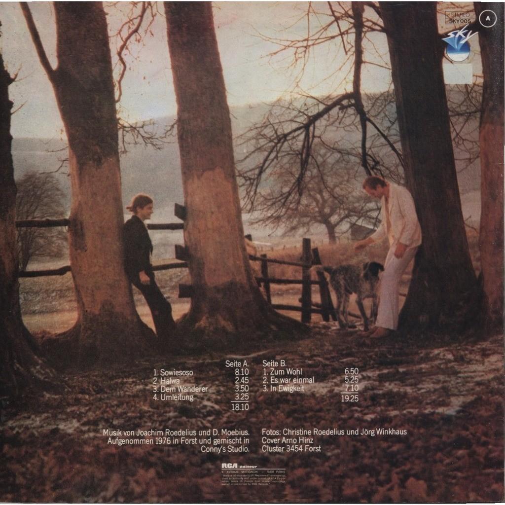 CLUSTER (Dieter Moebius - Hans Joachim Rodelius) Sowiesoso ORIGINAL - FRANCE
