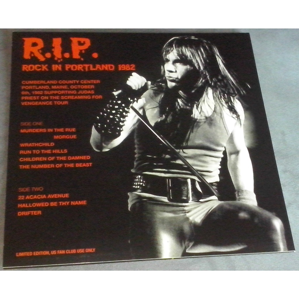 Iron Maiden R.I.P. Rock in Portland (lp) Ltd Edit Colored Vinyl With Poster -U.S.A