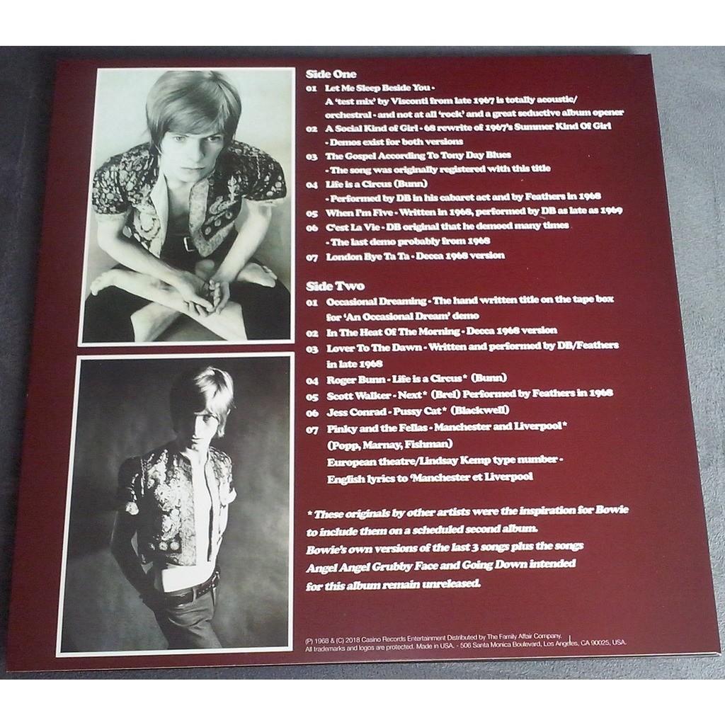David Bowie Occasional Dreaming (lp) Ltd Edit Coke Bottle Green Vinyl & 500 Copies -USA