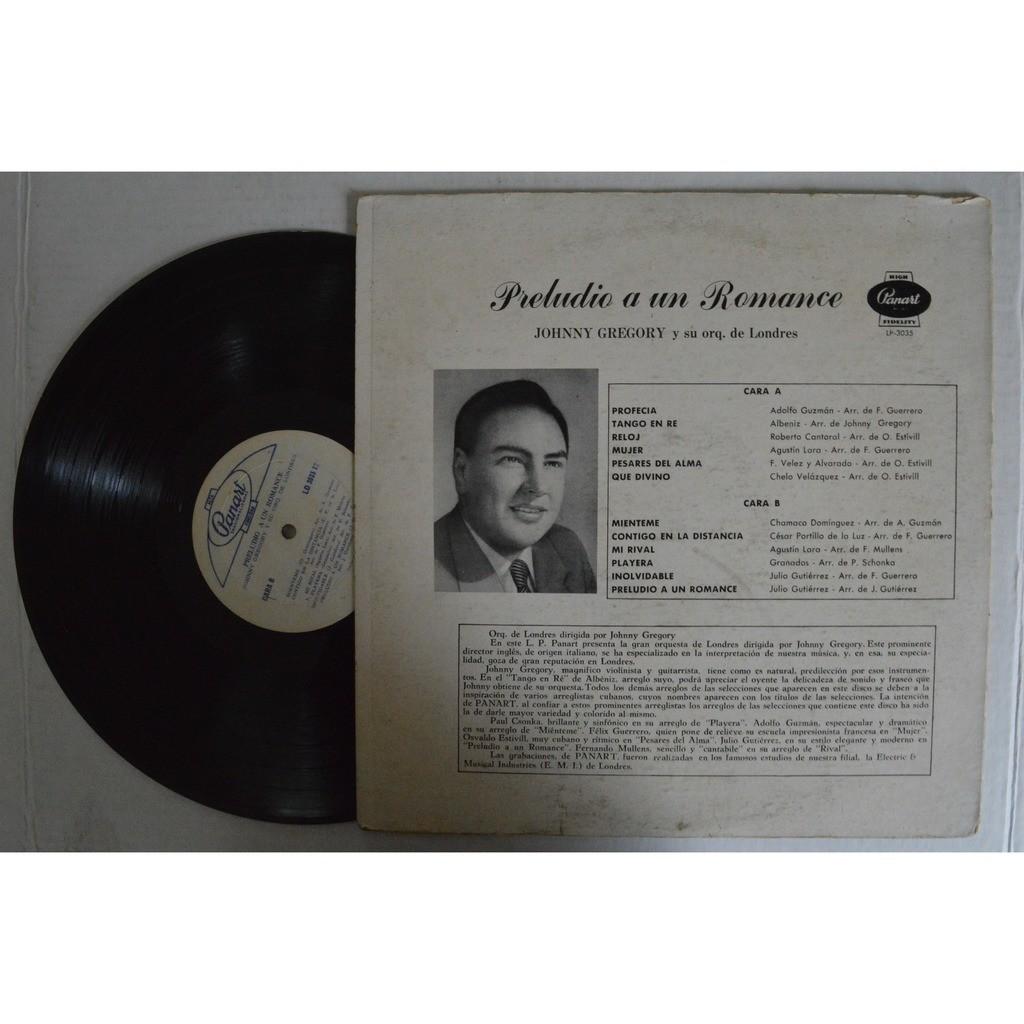 Johnny Gregory y su Orquesta de Londres Preludio A Un Romance