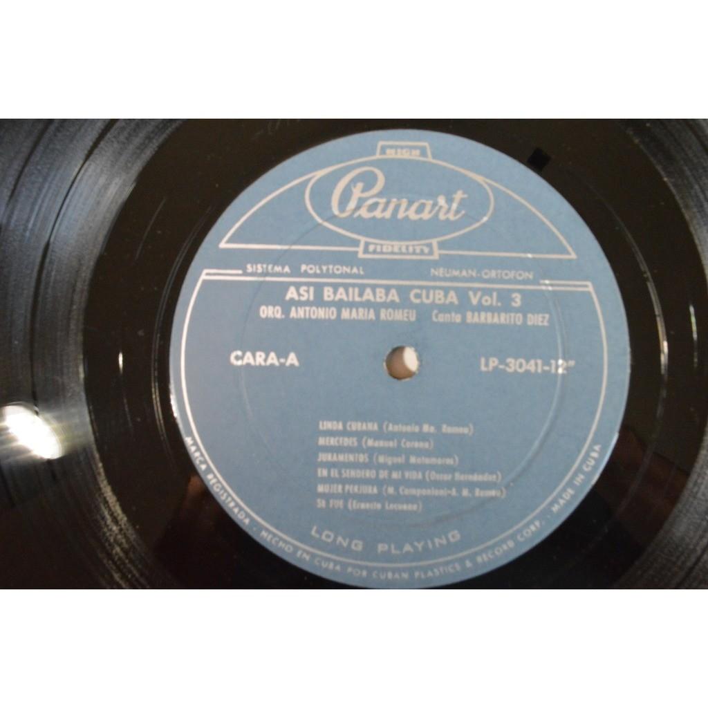 Orq Antonio Ma Romeu 'Asi Bailaba Cuba' Vol 3