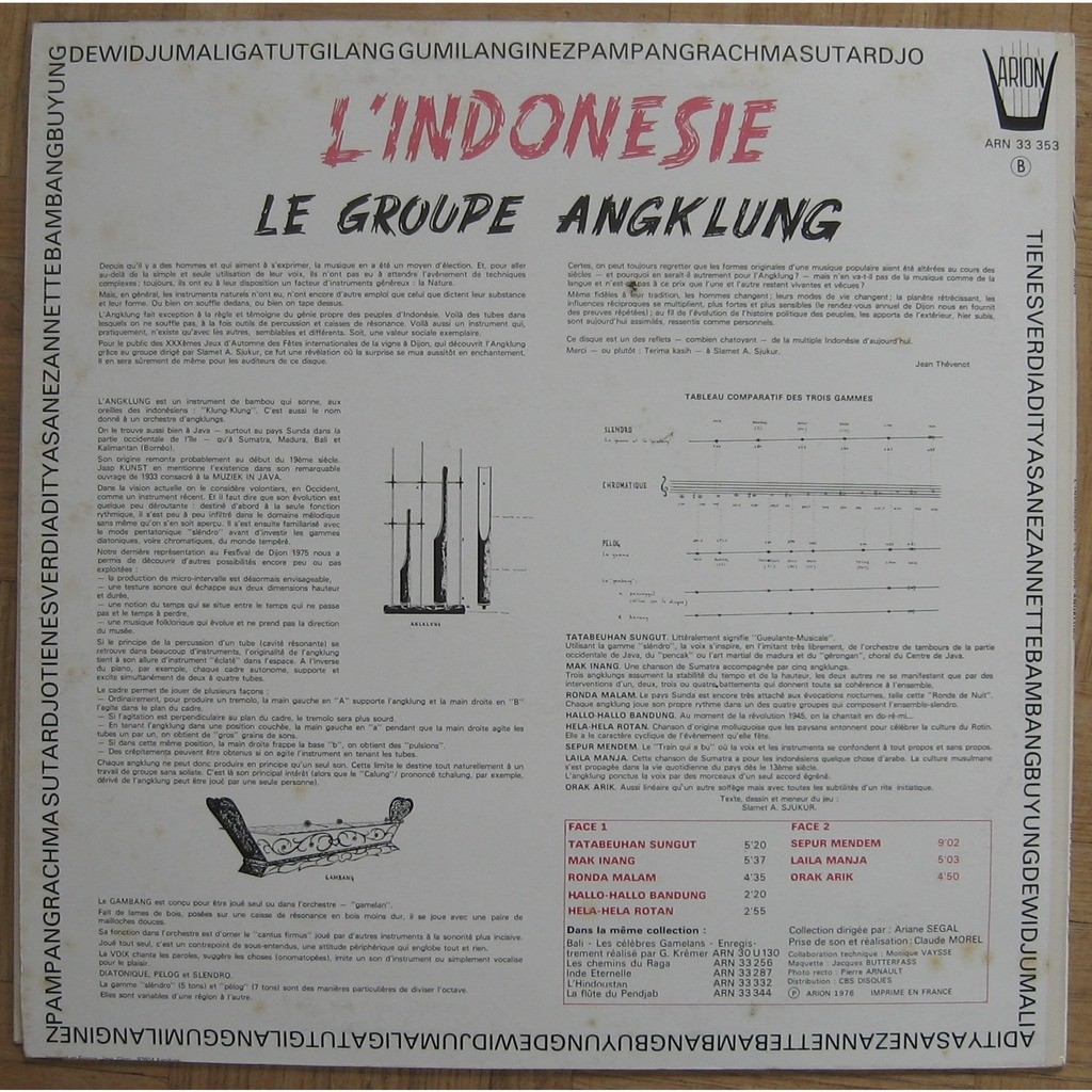 Le Groupe Angklung Indonesia – Le Groupe Angklung