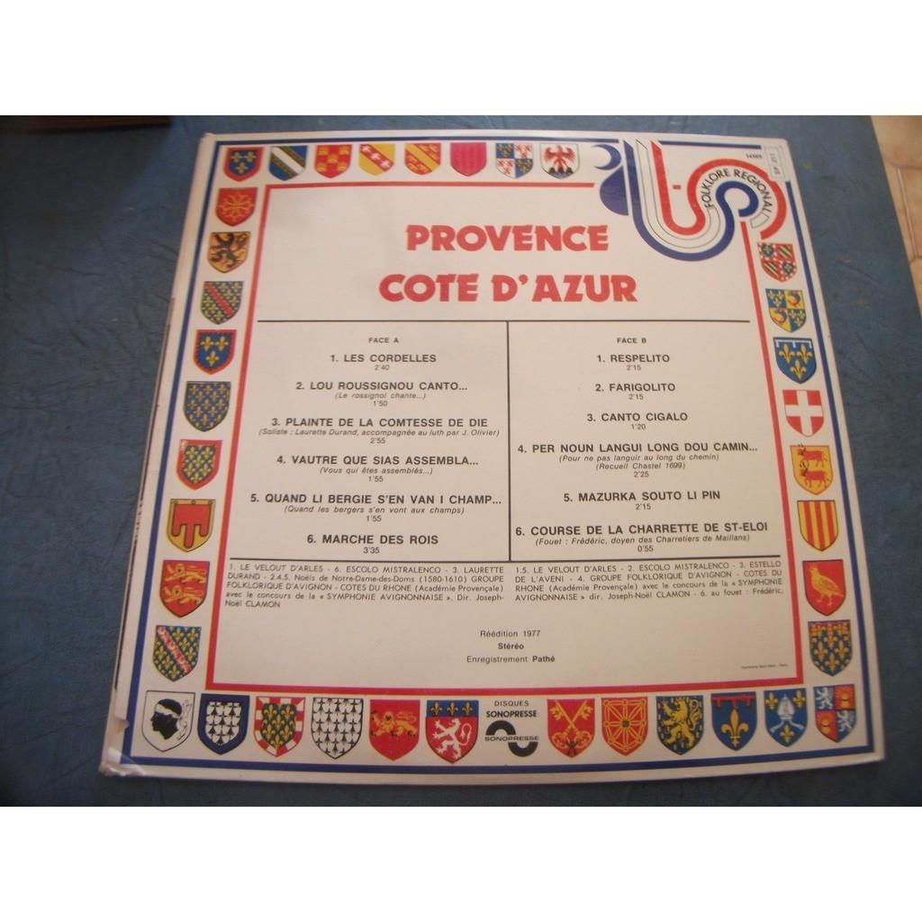 Folklore Provence Côte D'Azur various rare !!
