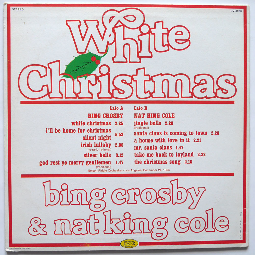 Bing Crosby & Nat King Cole white christmas