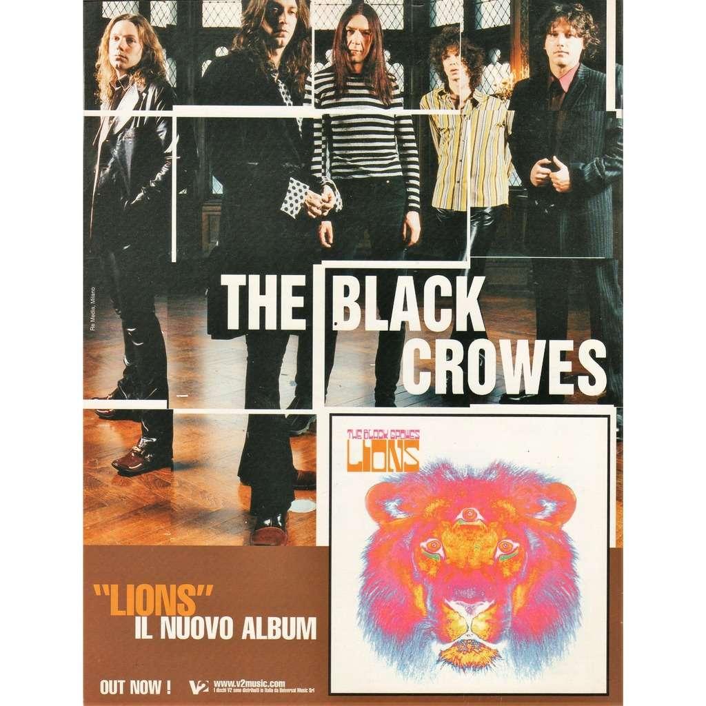 Black Crowes Lions (Italian 2001 promo type advert 'album release' poster flyer!)