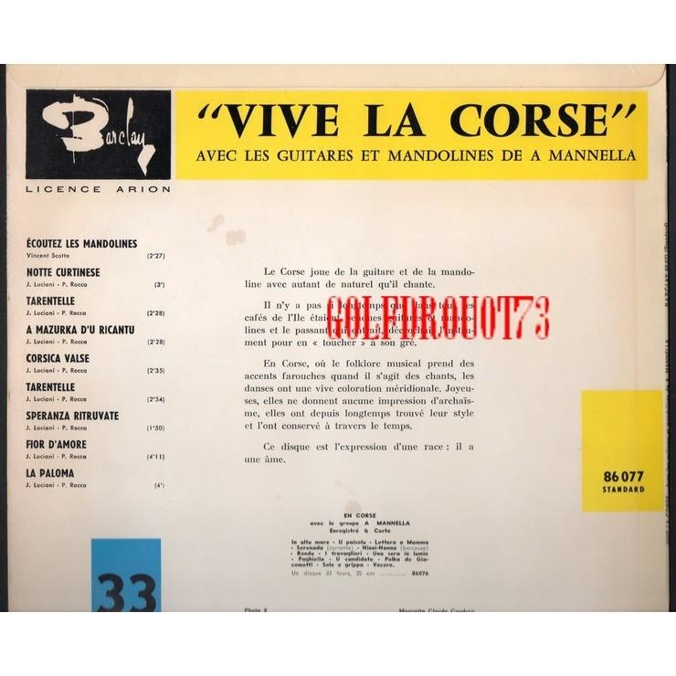 A. MANNELLA ( DE CORTE ) VIVE LA CORSE