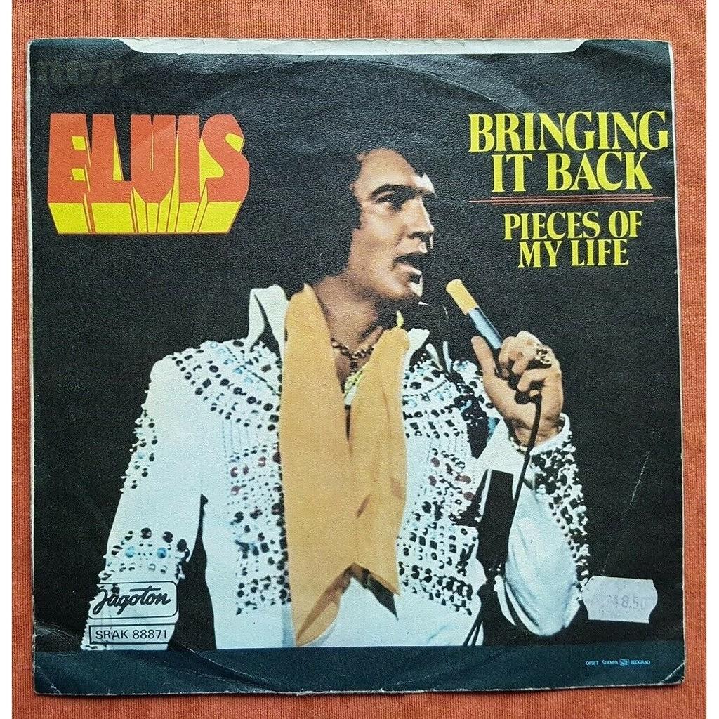 elvis presley 1 orange label 45 yugoslavia BRINGIN' IT BACK RCA SRCA 88871