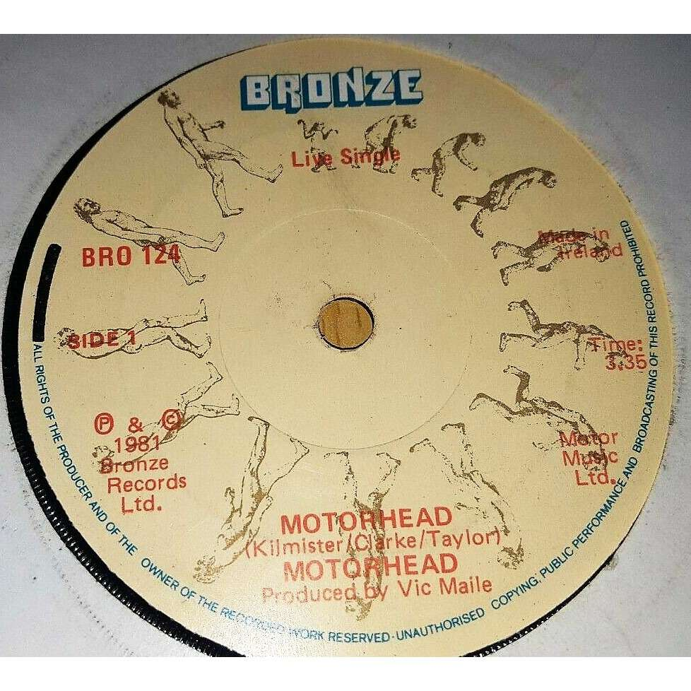 Motorhead Motorhead (live) (Ireland 1981 original 2-trk 7single on Bronze lbl)