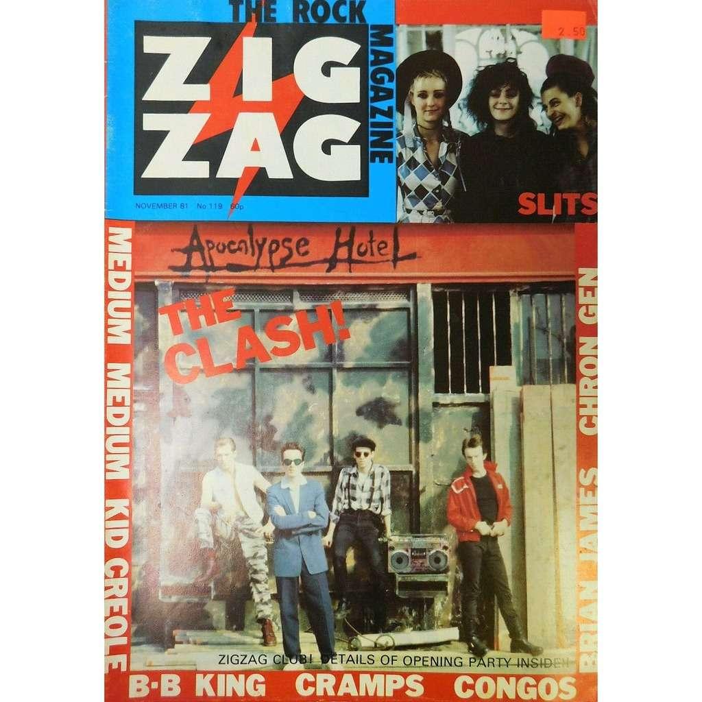 The Clash Zig Zag (N.119 Nov. 1981) (UK 1981 Clash front cover magazine!!)