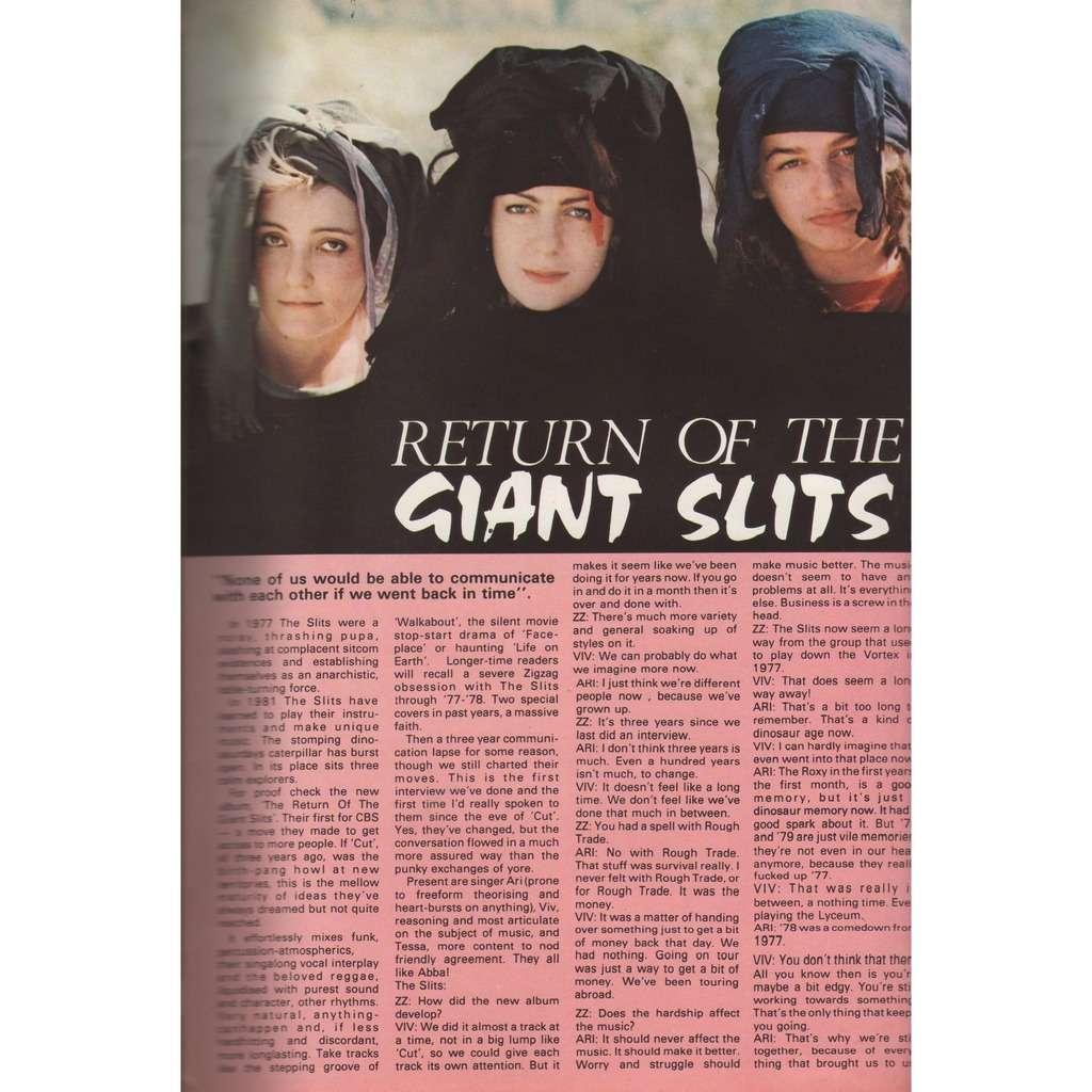 The Slits Zig Zag (N.119 Nov. 1981) (UK 1981 Slits front cover magazine!!)