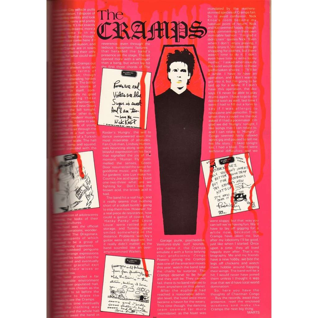 The Cramps Zig Zag (N.119 Nov. 1981) (UK 1981 music magazine!!)