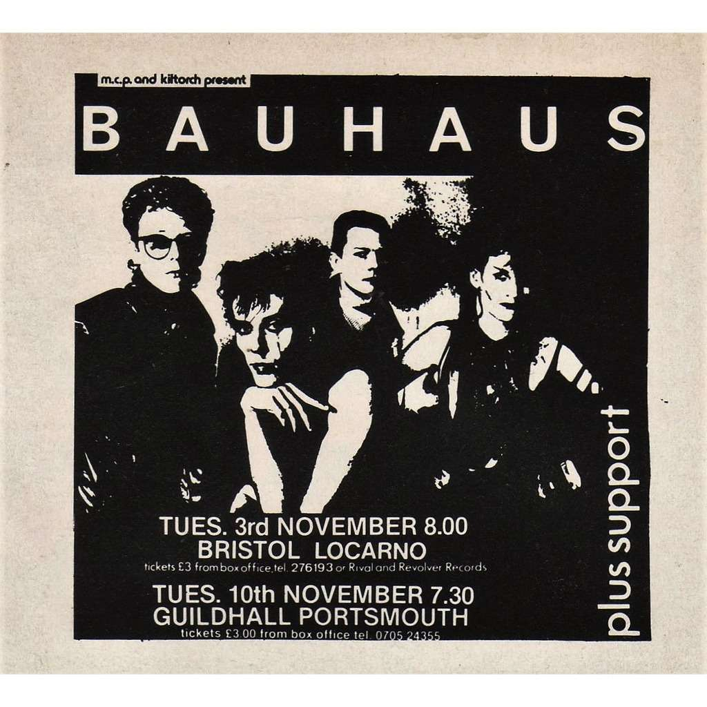 Bauhaus Bristol 03.11.1981 (UK 1981 promo type advert concert flyer!)