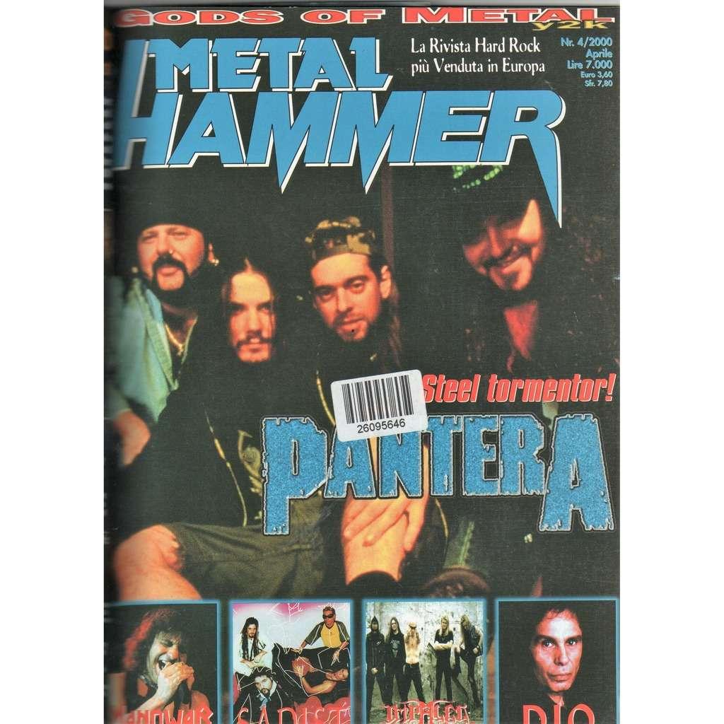 Pantera Metal Hammer (N.4 April 2000) (Italian 2000 Pantera front cover magazine!!)