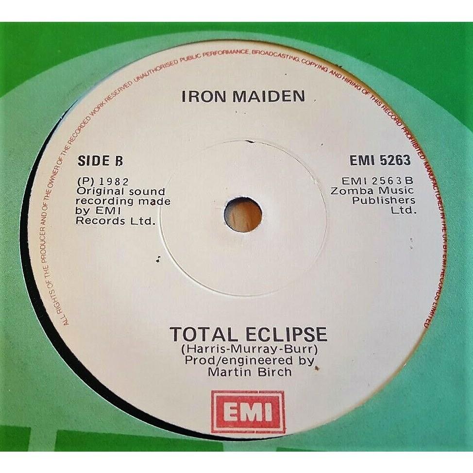 iron maiden Run to the hills (Ireland 1982 original 2-trk 7single EMI green Company slv!)