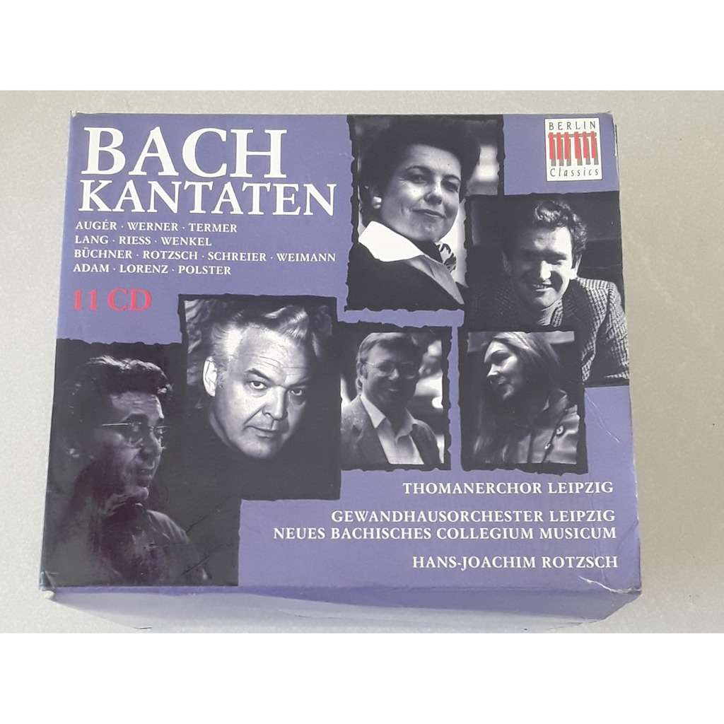Bach-Auger-Werner-Termer-Lang-Riess-Wenkel-Rotzsch Coffret Box 11 CD - Kantaten - Cantates - Cantatas
