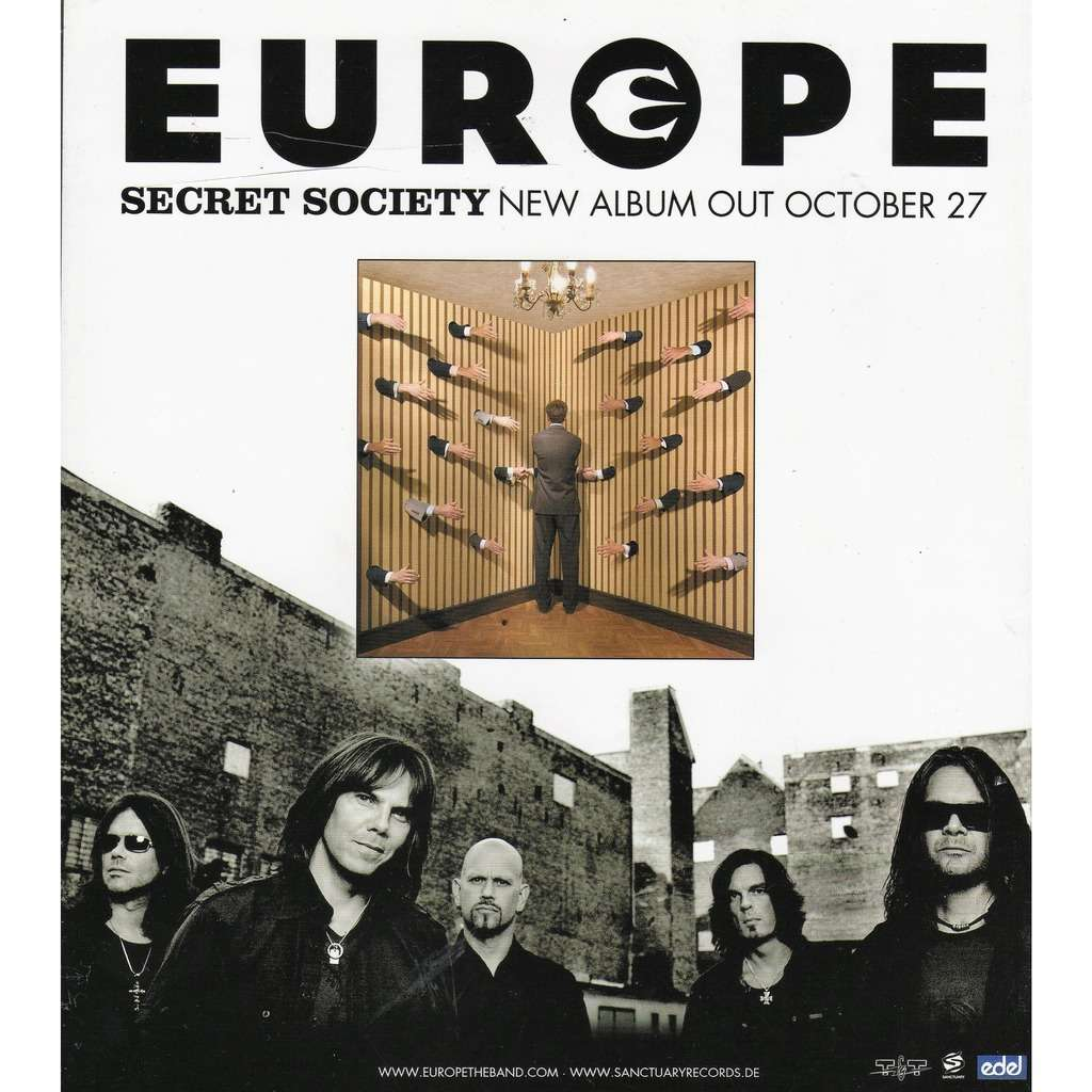 Europe Secret Society (Italian 2006 promo type advert 'album release' poster flyer!)