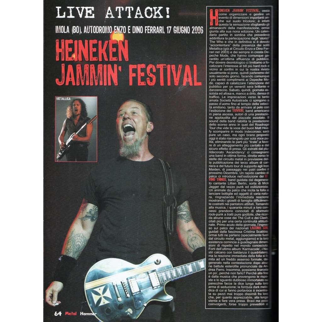 Metallica Metal Hammer (N.7 July 2006) (Italian 2006 music magazine!!)