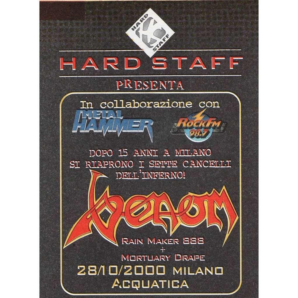 Venom Milano 28.10.2000 (Italian 2000 promo type advert concert flyer!)