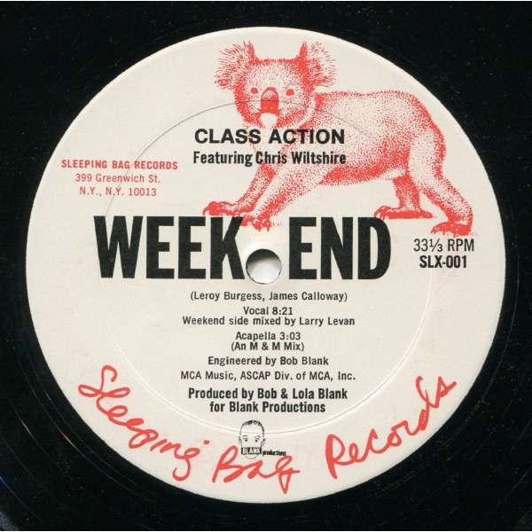 Class Action Featuring Chris Wiltshire* - Weekend Class Action Featuring Chris Wiltshire* - Weekend (12, Single)