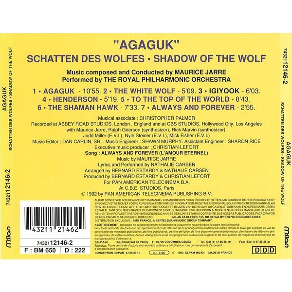 Maurice Jarre Agaguk (Shadow of the Wolf)