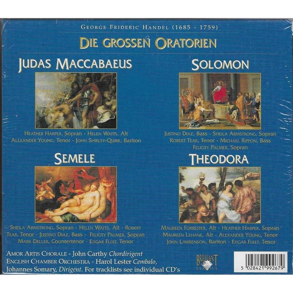 English Chamber Orchestra, Harold Lester, J.Somary Handel : Die Grossen Oratorien - Judas Maccabaeus; Solomon; Semele; Theodora