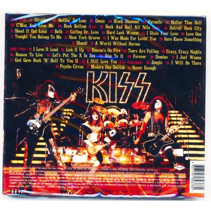 KISS Greatest Hits (Russian only 2010 Ltd 40-trk 2CD set, compilation, digipack, factory-sealed copy)