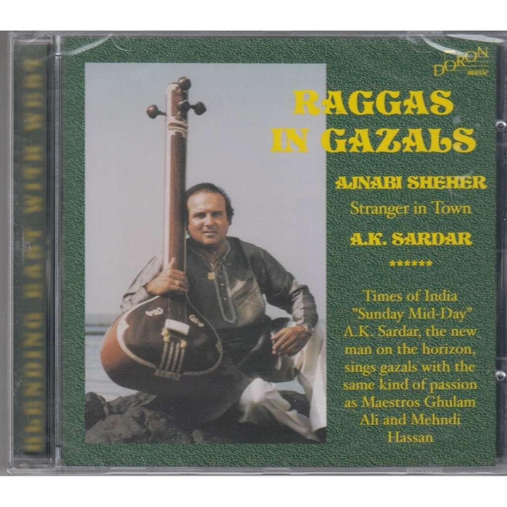 A.K. SARDAR Raggas in Gazals Vol.1 CD NEW
