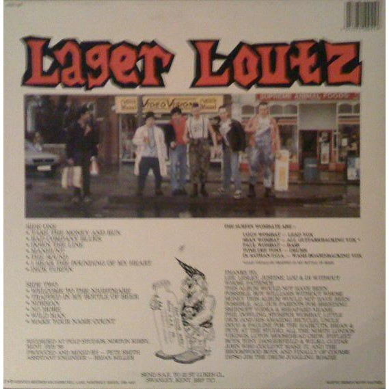 The Surfin' Wombatz lager louts