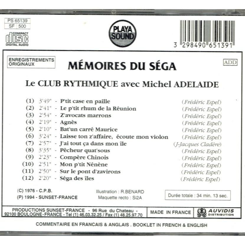 MEMOIRES DU SEGA le club rythmique avec michel adelaide