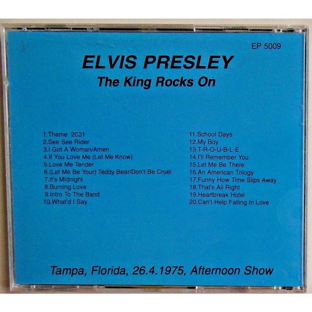 elvis presley 1 cd the king rocks tampa 26/4/75 afternoon show