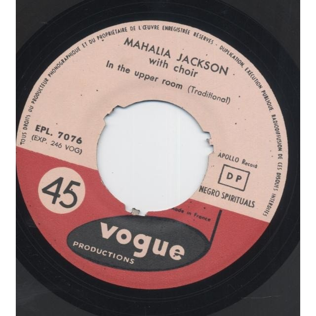 jackson mahalia negro spirituals vol. 1 (I Bow On My Kness / City Called Heaven / 	In The Upper Room )