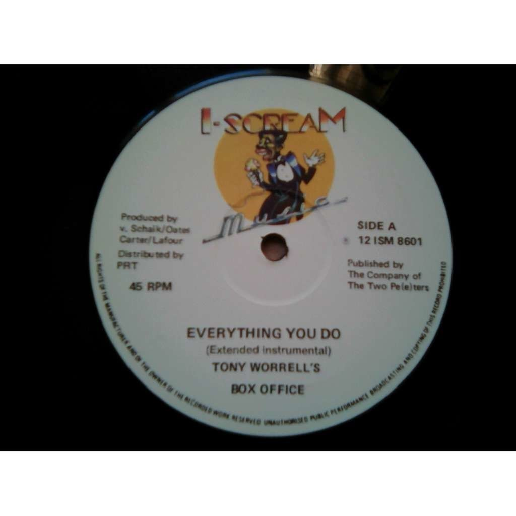 Tony Worrell's Box Office - Everything You Do (12 Everything You Do (Extended Instrumental)