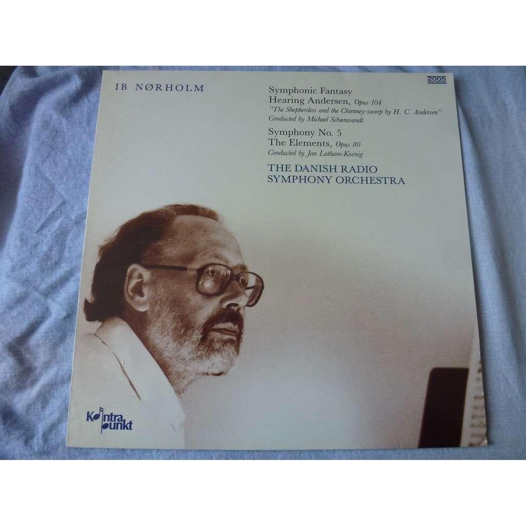 ib norholm symphonic fantasy hearing andersen , Op.104, Symphony No.5, the elements, Op.80