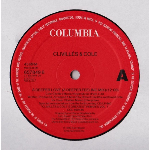 Clivilles & Cole A deeper love ( A deeper feeling mix ) - Pride ( In the name of love ) ( MLK 12 remix )
