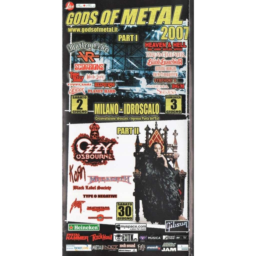 Ozzy Osbourne / Korn / Megadeth Gods Of Metal 2007 (Milano Idroscalo 30.06.2007) (Italian 2007 3-way gf concert program!)
