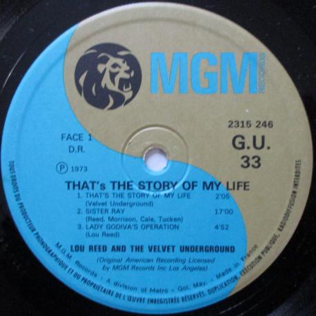 VELVET UNDERGROUND (The) Lou Reed and The Velvet Underground (original French press - 1973)