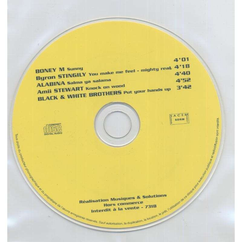 Boney M and 04 Various Artists Sunny - ( Compilation 05 Tracks )- Promo