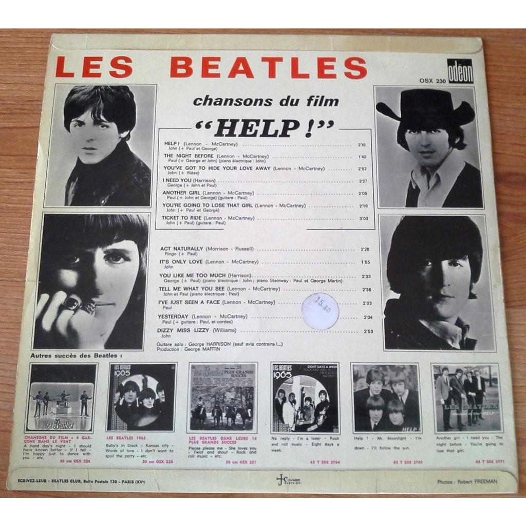 the beatles Chansons du film Help ! - Label Bleu
