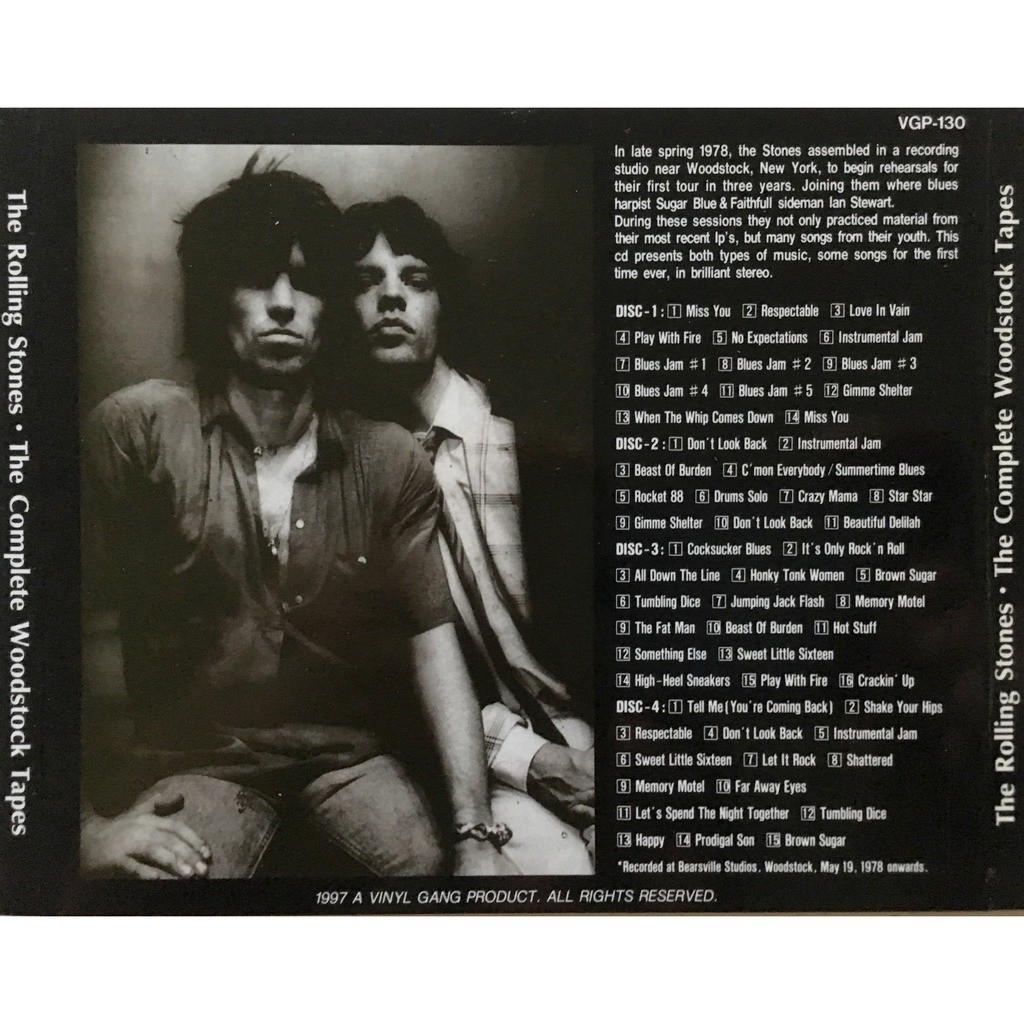 ROLLING STONES - THE COMPLETE WOODSTOCK TAPES (ALTERNATES - DEMOS - OUTTAKES - REHEARSALS)