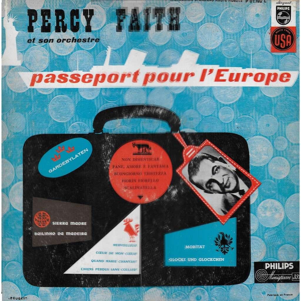 Percy FAITH et son orchestre Passeport pour l'Europe