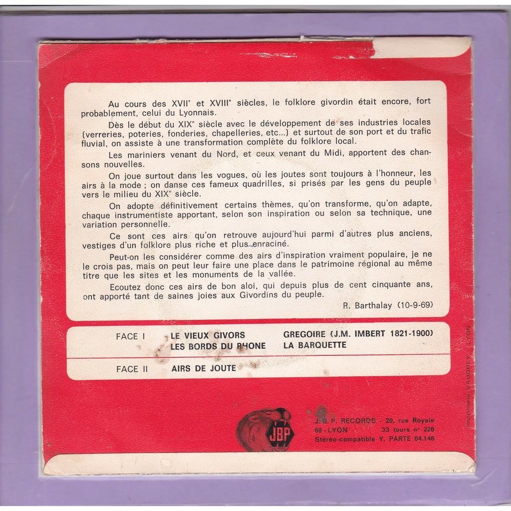 la barquette le vieux givors - les bords du rhône - airs de joute (pochette rouge)